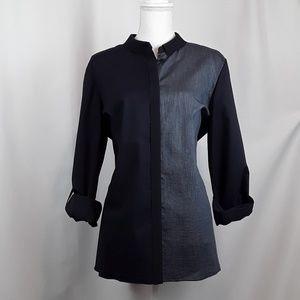 Elie Tahari Blouse Tunic  Shirt Button down XL